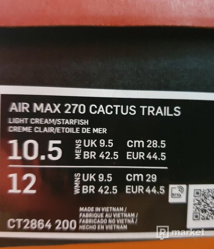 Nike Air Max 270 React ENG Travis Scott Cactus Trails/vel. 44 2/3 /VnDS