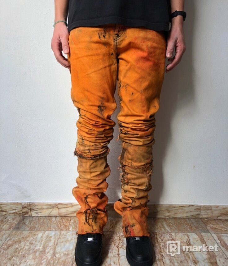 Custom stacked jeans