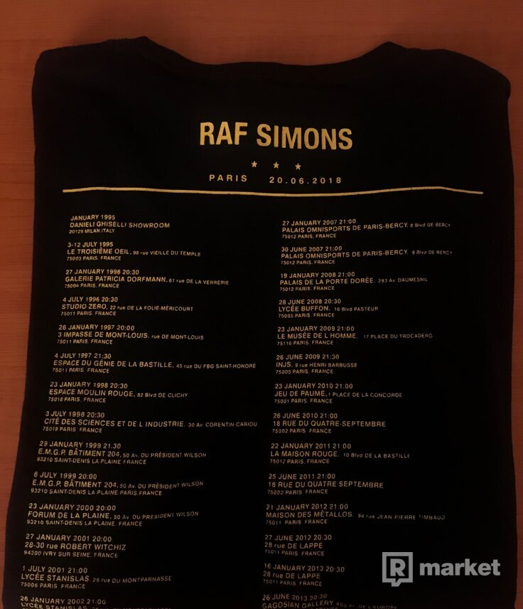 Raf Simons Paris Tour Tee