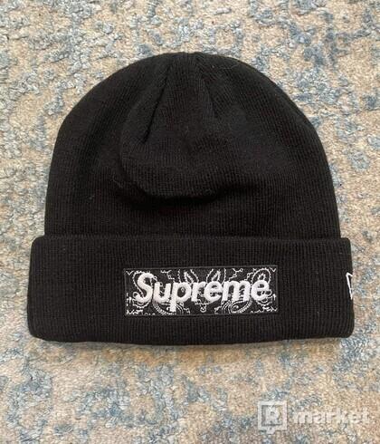 Supreme black bandana box logo beanie