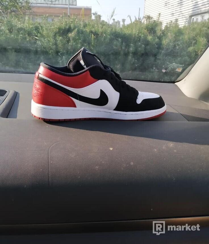 Jordan1 Black Toe Low White/Black-Gym Red