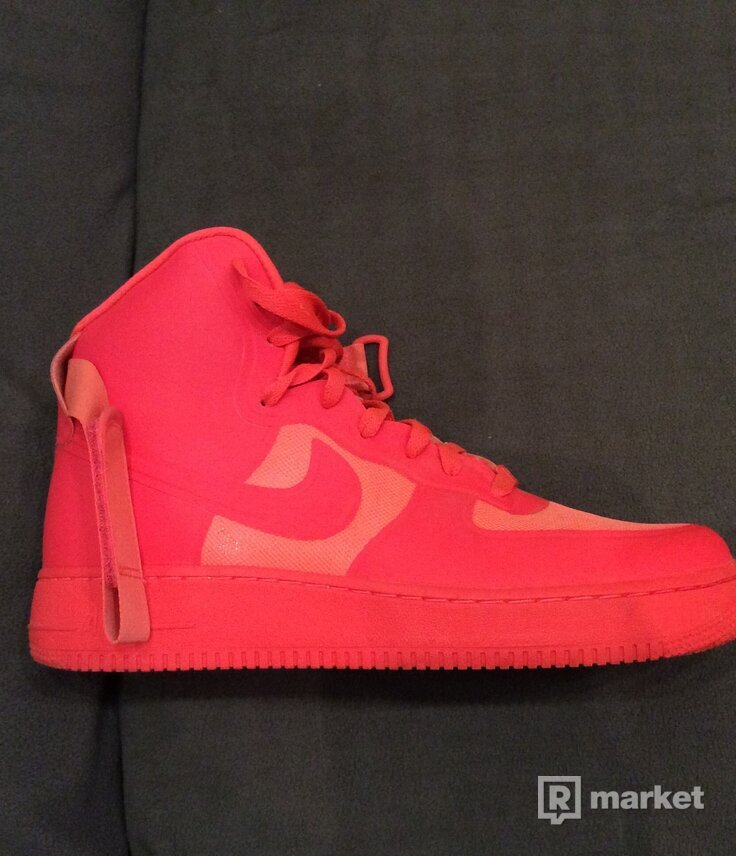 Nike AF1 High Hyperfuse Solar red