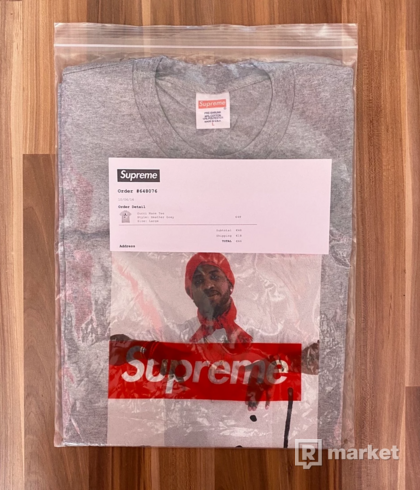 Supreme Gucci Mane Photo Boxlogo tee