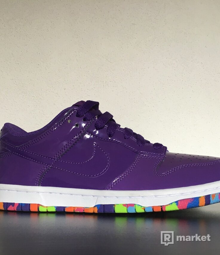 Nike Dunk Low Women Purple White Rainbow Sole tenisky