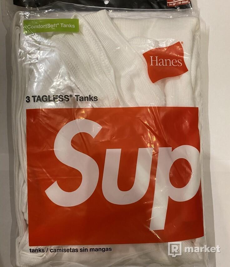 Supreme hanes tank tops