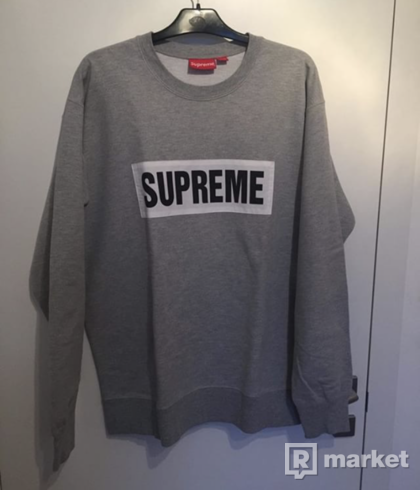 SUPREME SWEATSHIRT / MARATHON CREWNECK \heather grey\  SS14