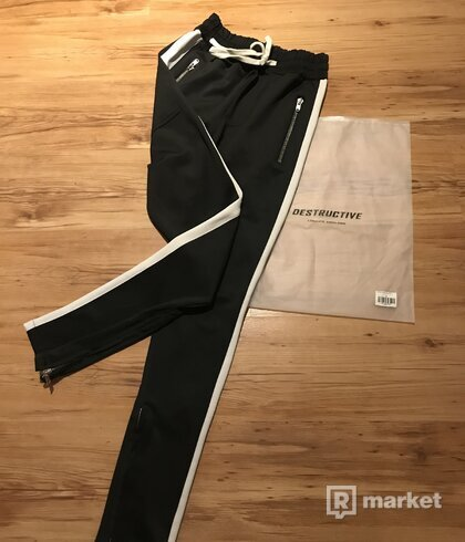 Destructive Retro Black/White Pants