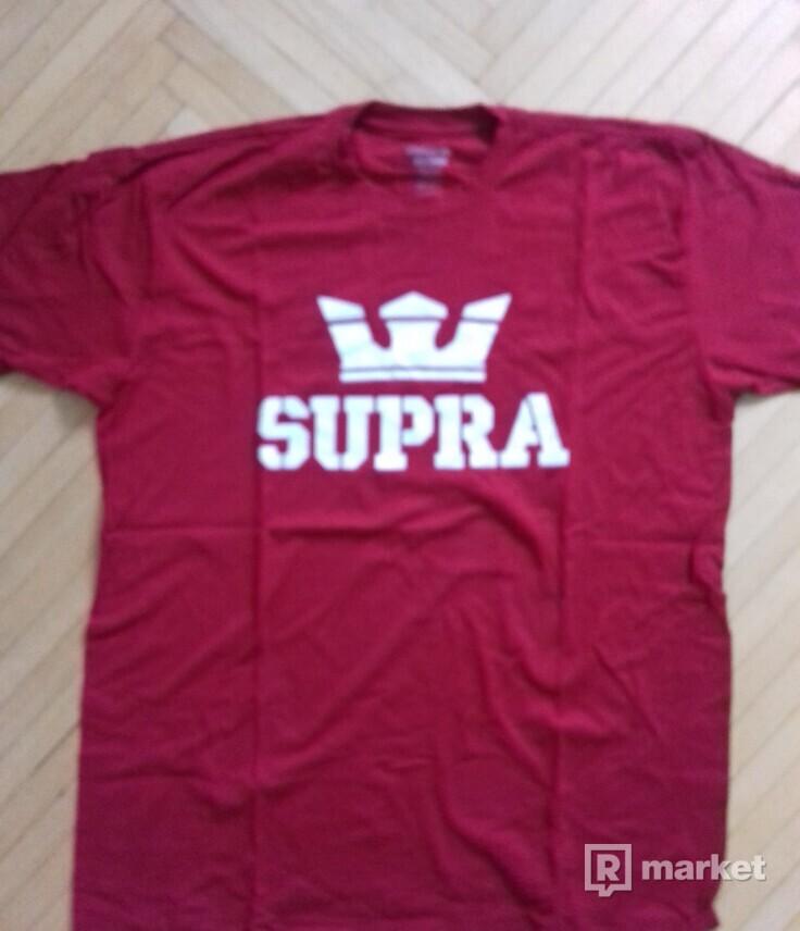 Predám pánske tričko Supra Red/White veľkosť L