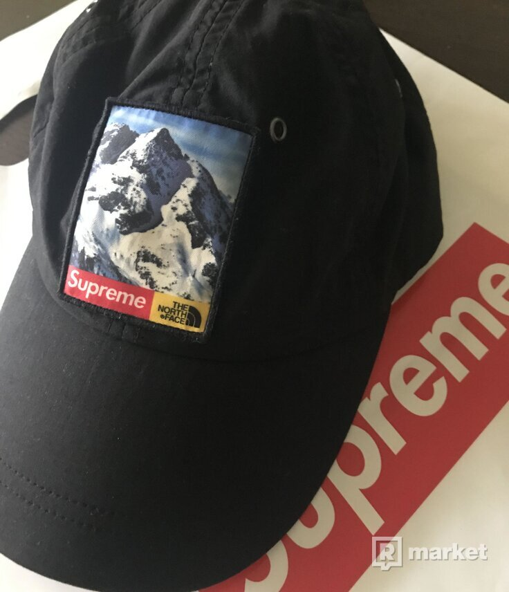 Supreme x TNF Mountain 6-Panel Hat Black