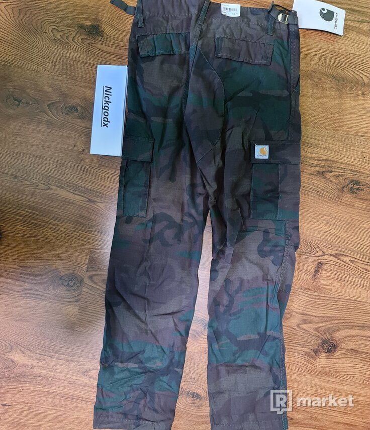 Carhartt Aviation Pant Camo Evergreen rinsed