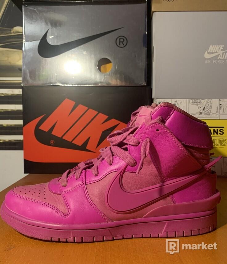Nike x AMBUSH dunk fuchsia pink