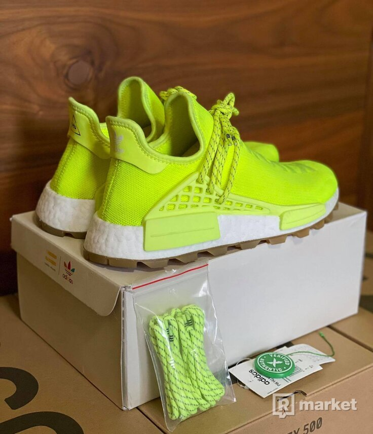 Adidas Human Race solar yellow
