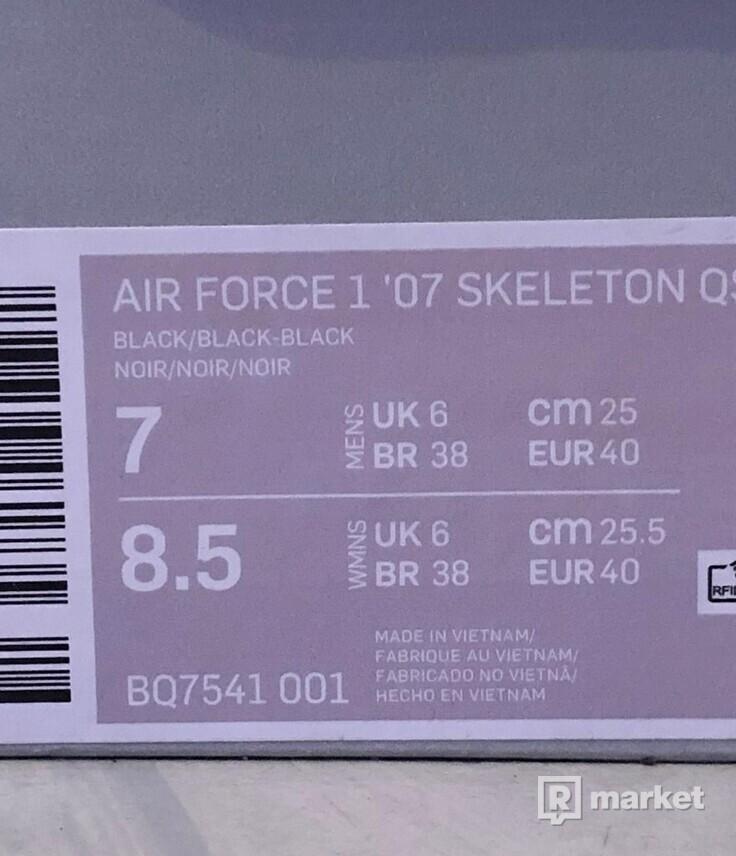 Air force 1 skeleton