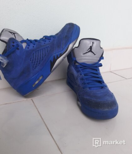 Air Jordan 5 retro (blue seude)