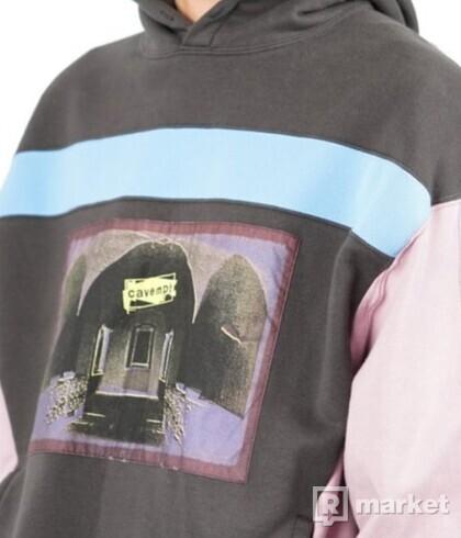 Cavempt blue rib heavy hoodie