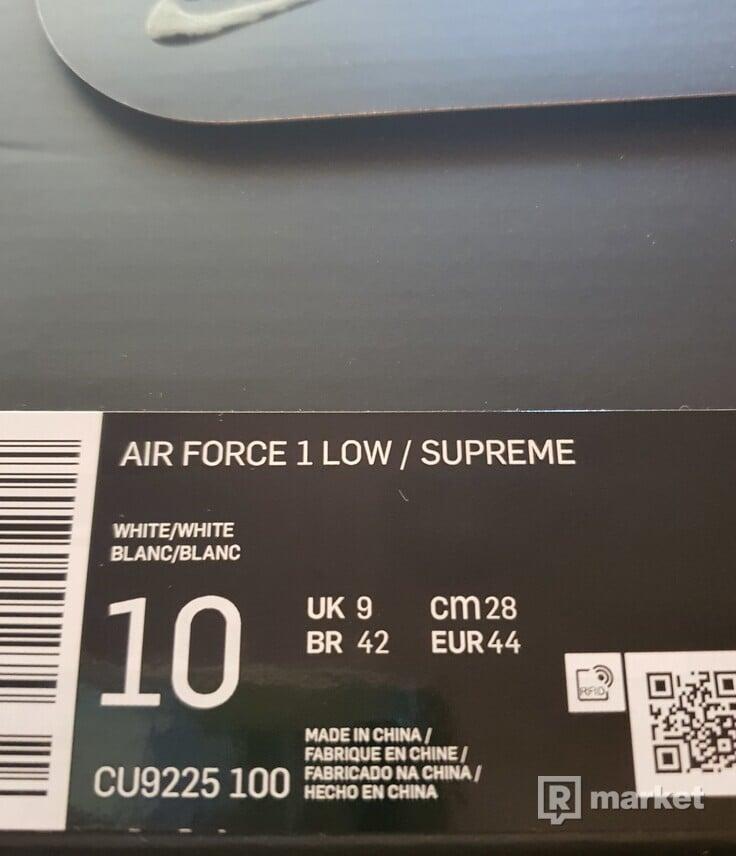 Nike Supreme air force 1 white EUR 44
