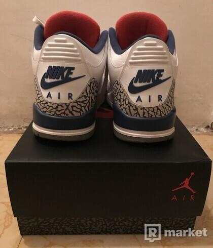 Predám Air Jordan 3 True Blue (2016)