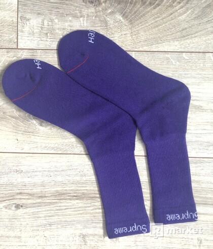 Supreme purple socks
