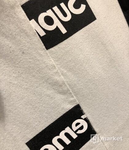 Supreme Comme des Garcons SHIRT Split Box Logo Tee White