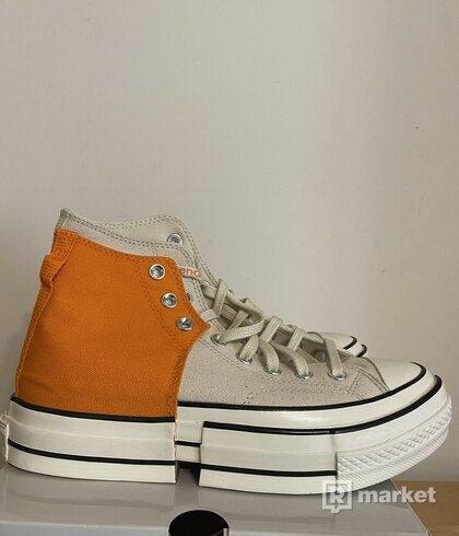 CONVERSE X FENG CHEN WANG CHUCK 70 2 IN 1 Persimmon Orange/ Natural Ivory