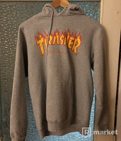 Thrasher hoodie grey