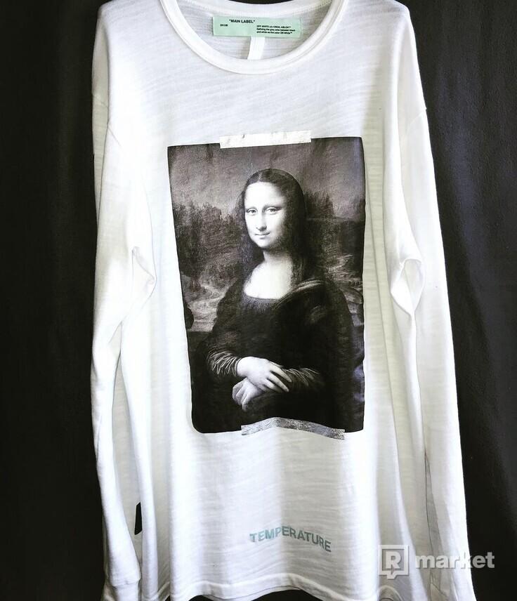 WTS Off-White Long Sleeve Diagonal Mona Lisa Tee