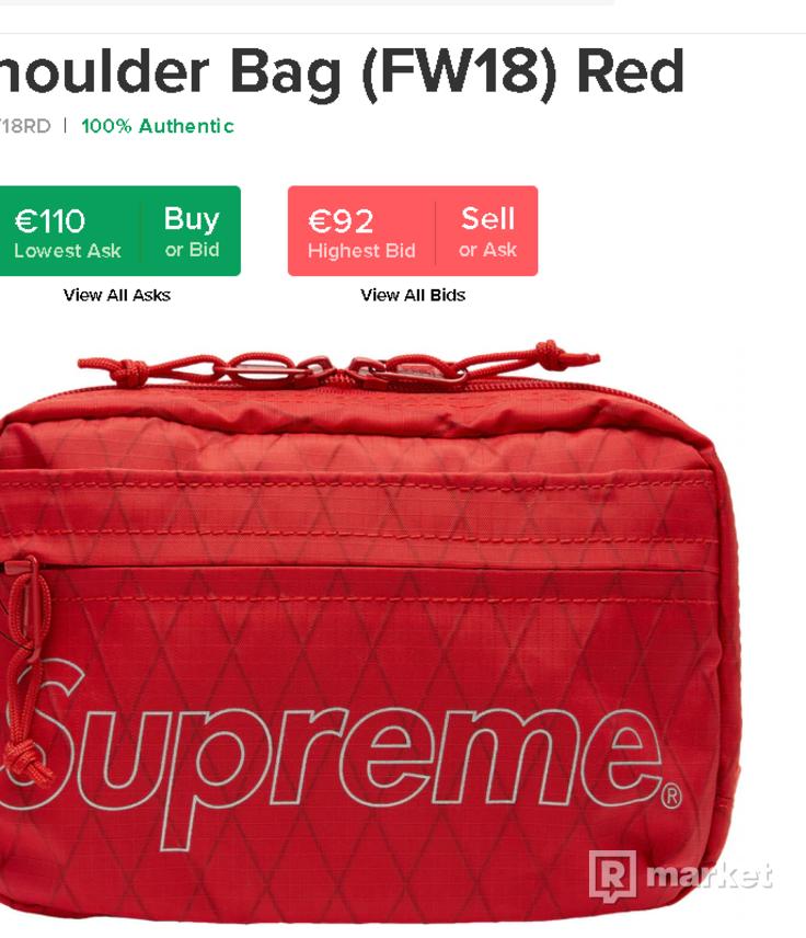 Supreme Shoulder Bag (FW18) Red reflecitve