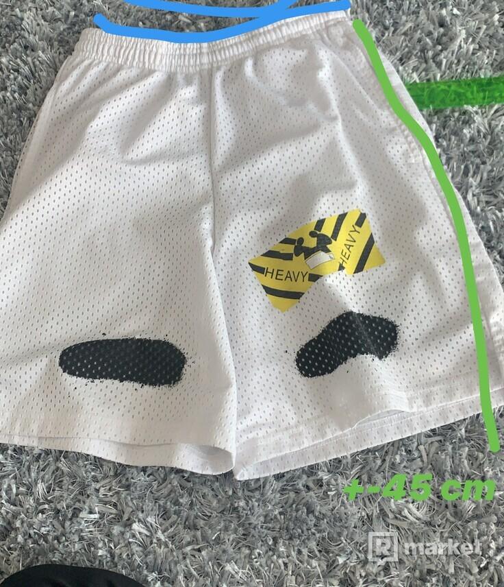 Off white diagonal spray shorts
