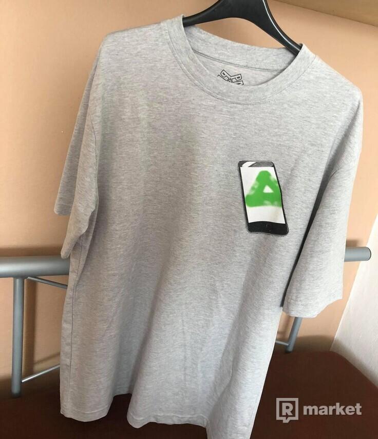 Palace Tri-Phone T-shirt Grey Marl Medium