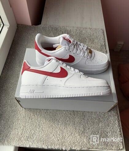 Nike Air force red swoosh