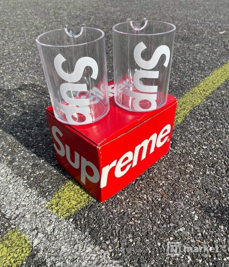 Supreme Heller Mugs(set of 2) Clear