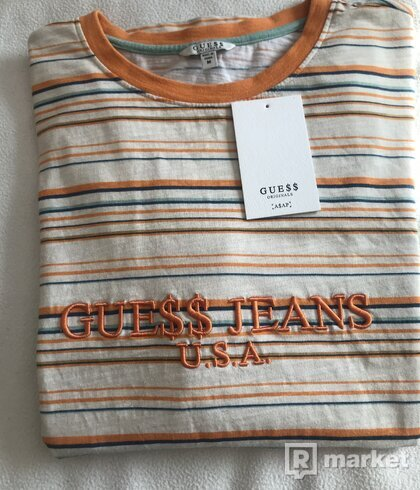 Guess x A$AP Rocky striped long sleeve tee orange