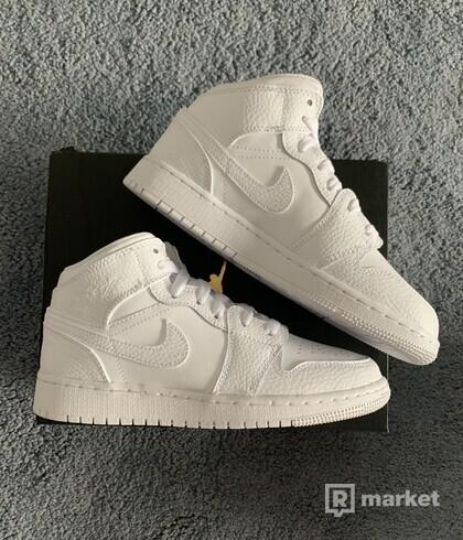 Jordan 1 Mid All White