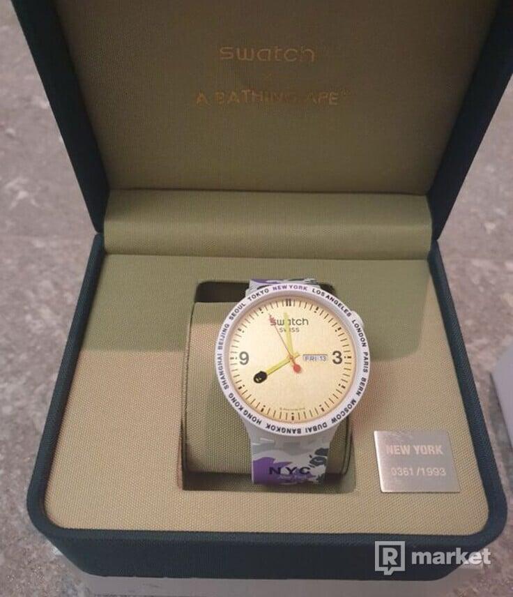 Swatch x Bape Hodinky