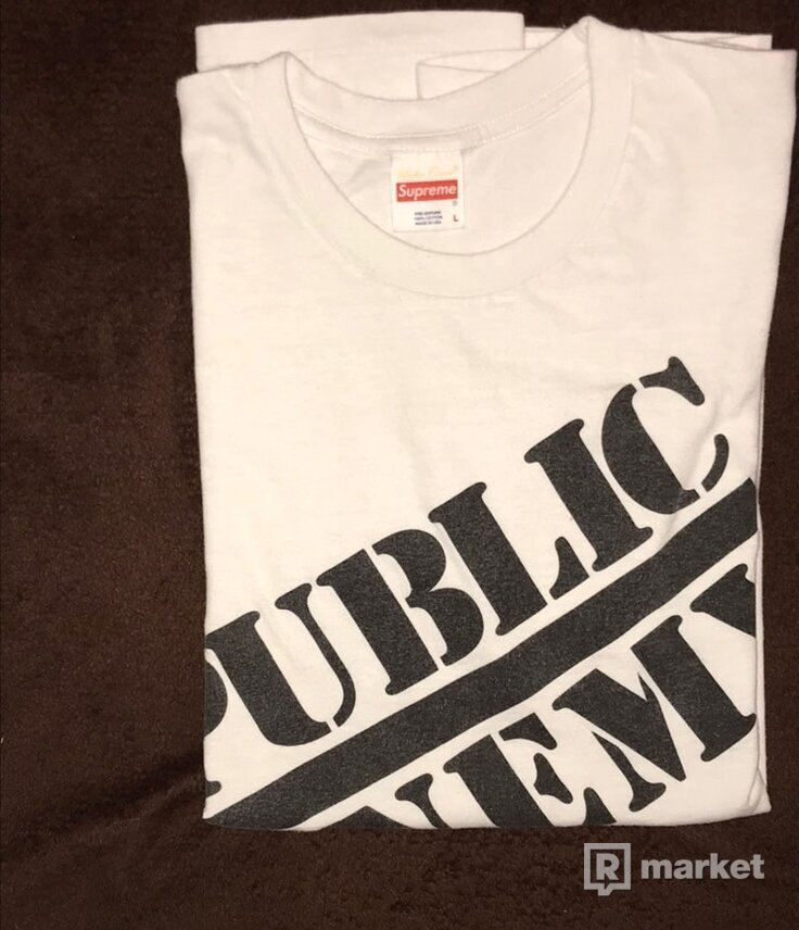 Supreme Public Enemy White Tee