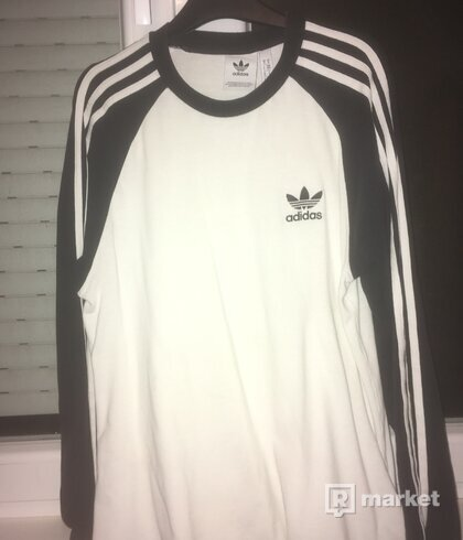 Adidas Three Stripes Longsleeve - Black/White