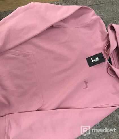 WTS stussy mikina pink