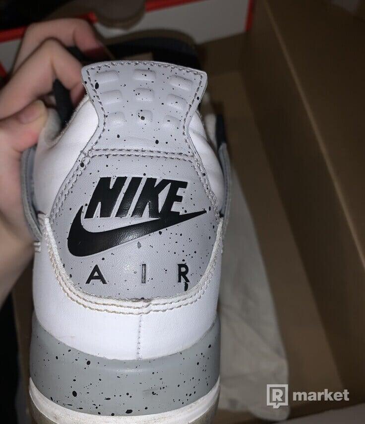 nike air jordan 4 white cement (gs)
