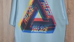 Palace Tri Ferg Colour Blur Tee Pale Blue