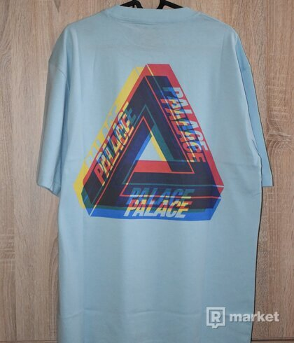 Palace Tri Ferg Colour Blur Tee Pale Blue