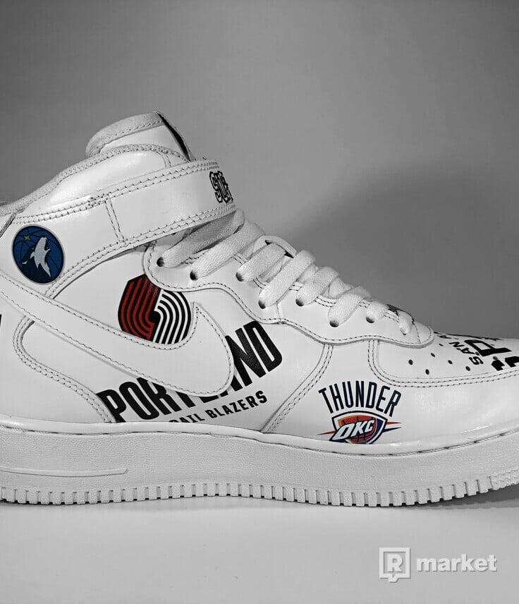 Nike Air Force 1 Mid '07 x Supreme (White)