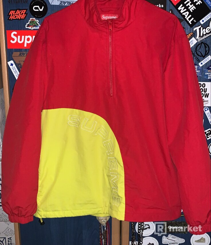 Supreme Red and Yellow ARC Jacket