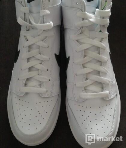 Nike Dunk hi white/black US11