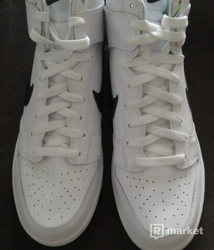 Nike Dunk hi white/black US11