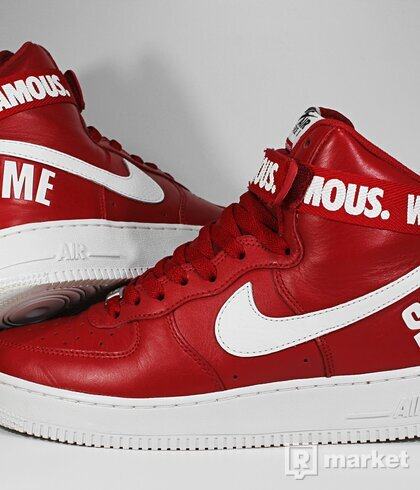 "Nike Air Force 1 High x Supreme SP ""World Famous"""
