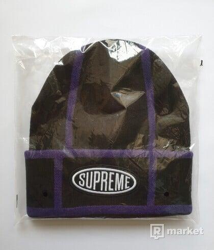 Supreme Grid Beanie Black