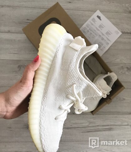 Yeezy boost 350 Cream nosené
