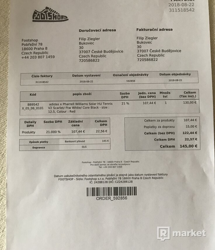 adidas x Pharell Williams Solar HU Tennis V2 Scarlet/ Ftw White/ Core Black