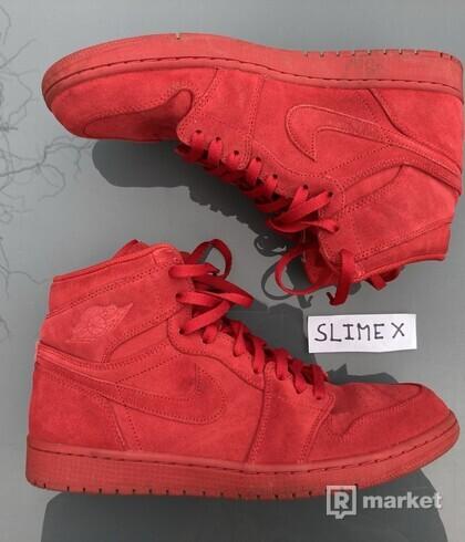 Air Jordan 1 High Red Suede