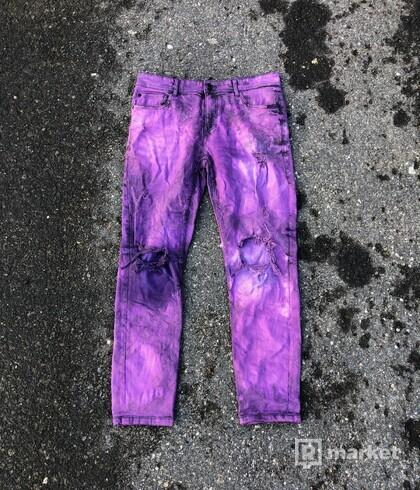 Custom purple jeans